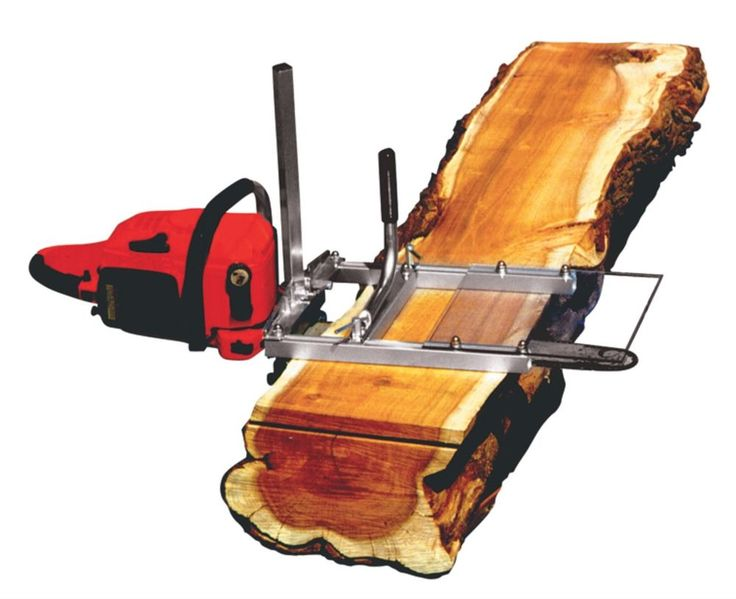 Cutting Pine Lumber With An Alaskan Chainsaw Mill