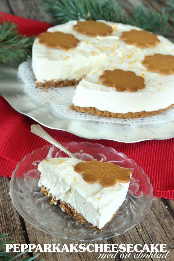 Pepparkakscheesecake med vit choklad   Tidningen Hembakat