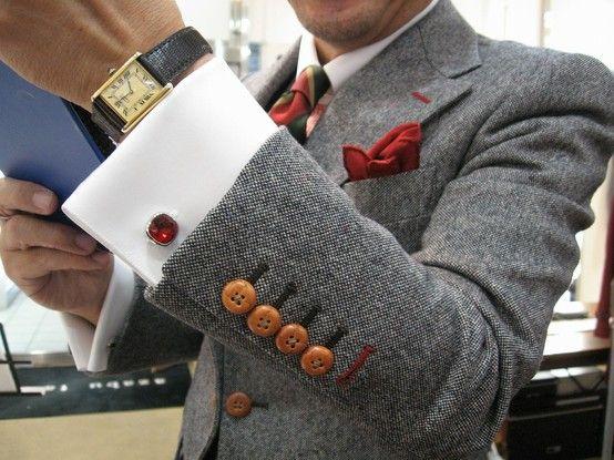 Details on men's suit jacket #menswear
