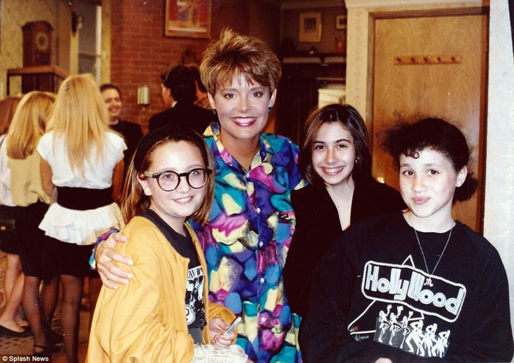 Young Meghan is seen here with another member of the show's cast, Amanda Bearse...