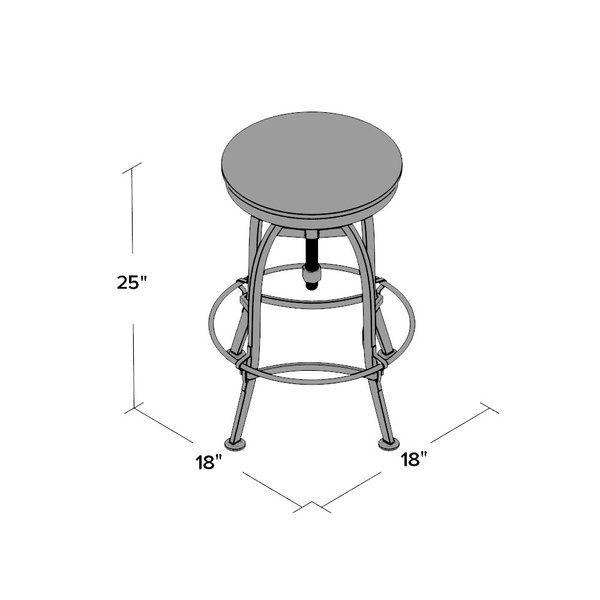 Southbridge Adjustable Height Swivel Bar Stool Swivel Bar Stools Bar Stools Stool