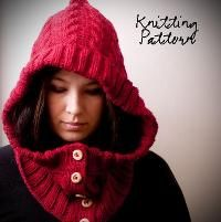Through the Woods Hooded Neckwarmer - via @Craftsy