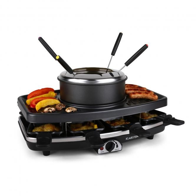 Entrecote Raclette Grill Stone Fondue 1100W 8 ppl