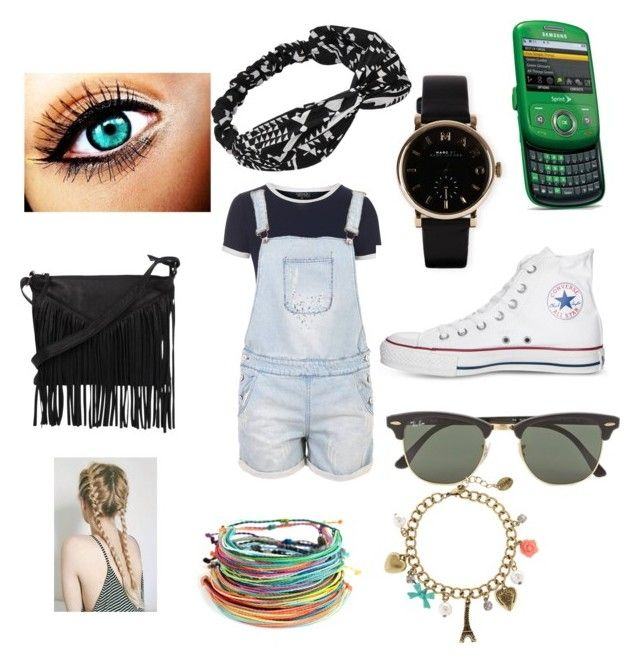 """Summer clothes"" by vollyball on Polyvore featuring Topshop, Krystal, Converse, Cut N' Paste, Marc by Marc Jacobs, Samsung, Ray-Ban, claire's, women's clothing and women"