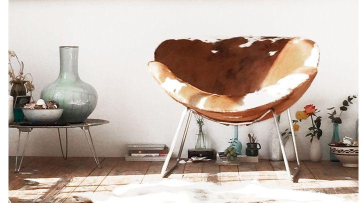 Afbeeldingsresultaat voor fauteuil koeienhuid