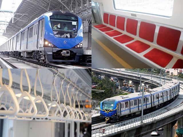 Slideshow : Interior and exterior shots of Chennai Metro - Sneak Peek: Interior and exterior shots of Chennai Metro   The Economic Times