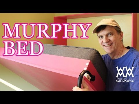How to Build a Murphy Bed. Free up floor space in your home!  hardware kits helpful.  #murphybedcabinet plans http://bit.ly/WWMMmurphybed  http://youtu.be/s3L1T34Zrdo SteveRamsey WWMM #freeplans #DIYmurphybed