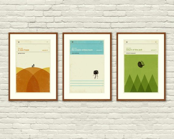 STAR WARS Inspired, Art Print Movie Poster Series - this kinda makes me want to do a Star Wars themed room ...