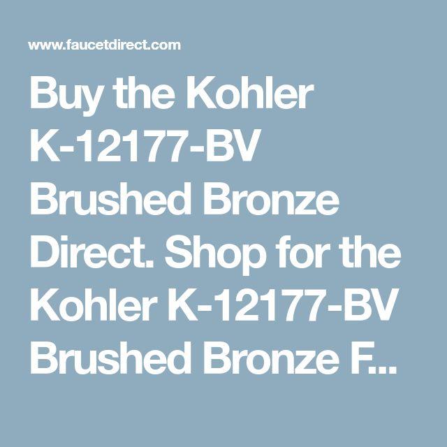 Buy the Kohler K-12177-BV Brushed Bronze Direct. Shop for the Kohler K-12177-BV Brushed Bronze Fairfax Pull Out Kitchen Faucet and save.