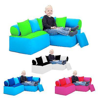Children's Reading Corner Nursery Seating Soft Play Sofa Bean Bag Kids Furniture