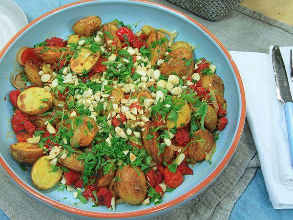 Varm potatissallad med chorizo | Recept från Köket.se