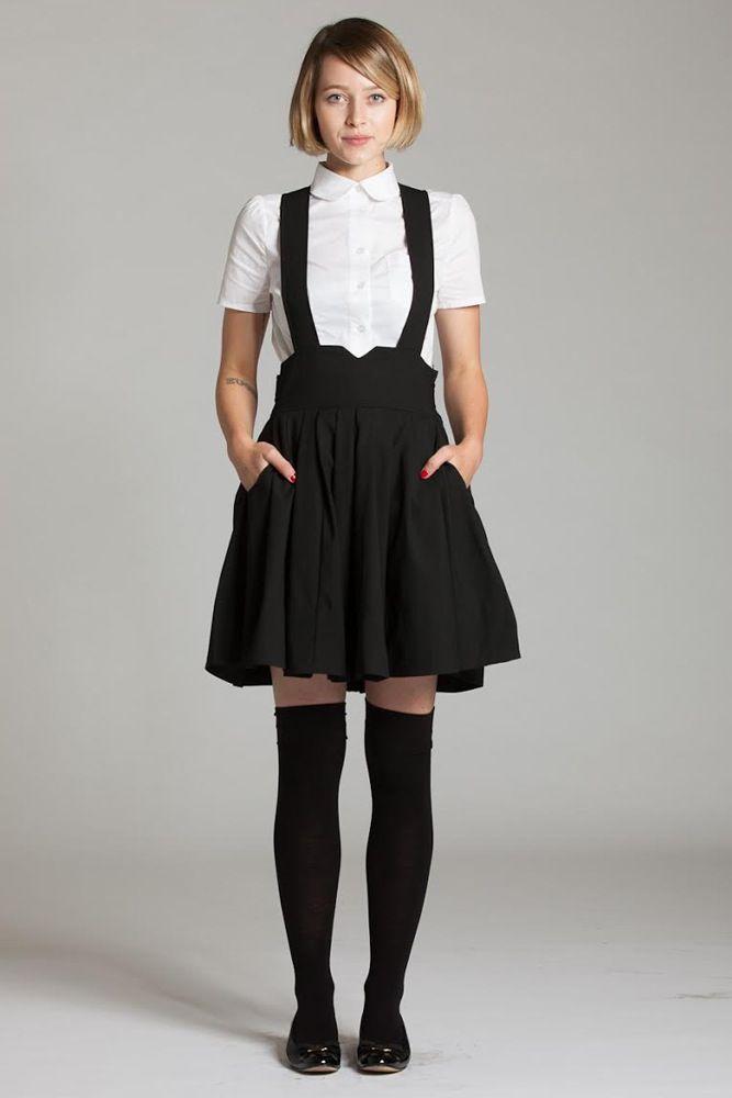 Image of Suspender Skirt w/ Pockets