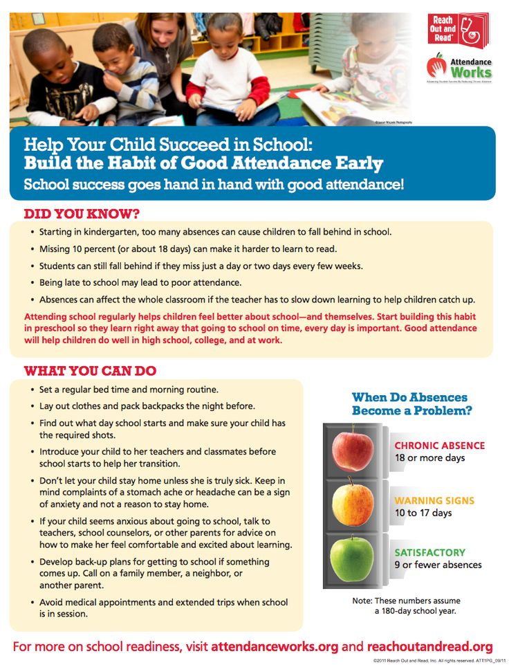 A Handout For Parents From Attendance Works On The
