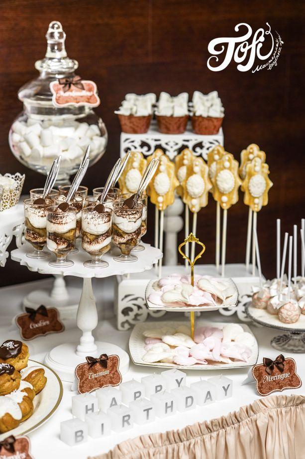 Шоколадно-кремовый десертный стол