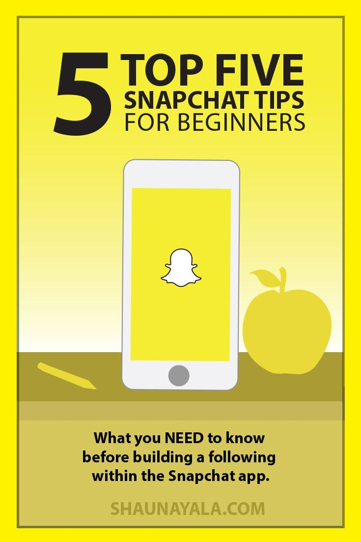 5 Snapchat Tips everyone NEED to know before growing a following within the Snapchat app  #Snapchat #tips #socialmedia