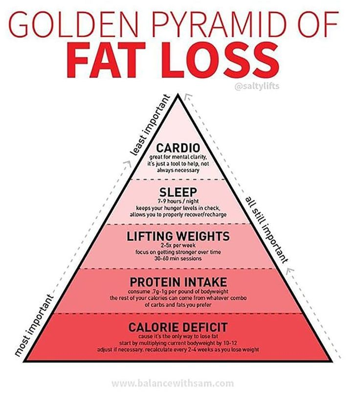 If You Want to Lose Weight, This Fat-Loss Pyramid Shows ...