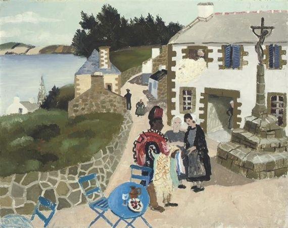The Rug Seller, Tréboul (1930) by Christopher Wood