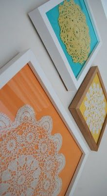 Framed crochet doilies