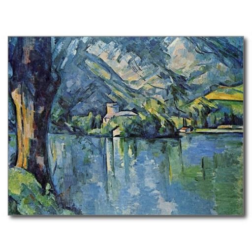 Paul Cezanne Most Famous Works | Lake Annecy By Paul Cézanne (Best Quality) Postcards