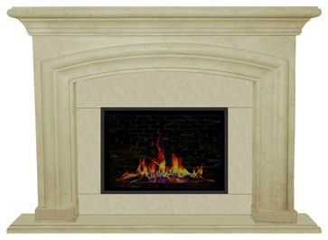 French Country Cast Stone Mantel - mediterranean - Fireplace Mantels - Los Angeles - Your Mantel Company Inc.