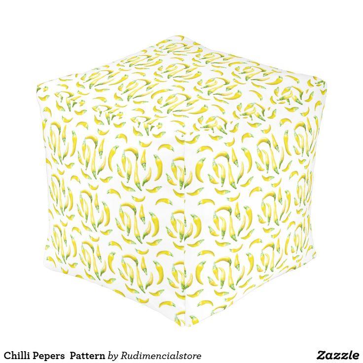 Chilli Pepers  Pattern Pouf