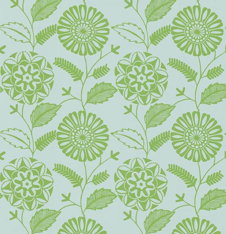 56643956 Resort Green Modern Floral by Brewster Modern