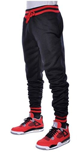 Mens Fleece Joggers Drawstring Jogger Pants