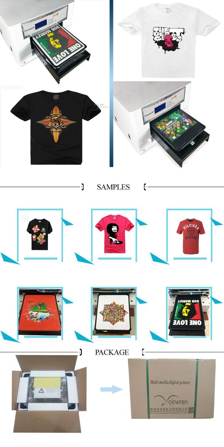 Digital Textile Printer Machine  T-shirt Printer for  Christmas Gift  Product Description  1.Haiwn t-shirt printing machine series products are used...