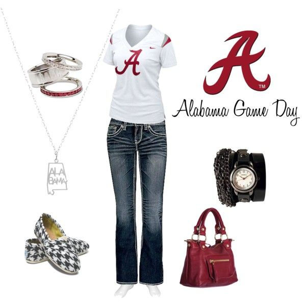 Casual Alabama Game Day Outfit, created by bamakit.polyvore.com -- Love Polyvore! (my first outfit!)