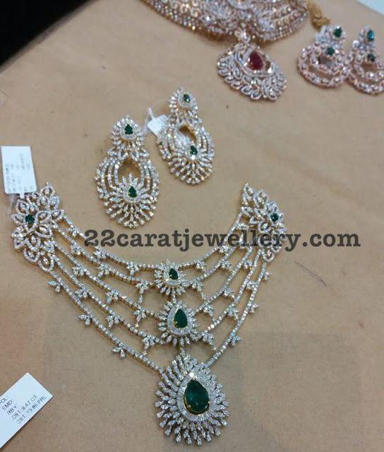 Five Rows Diamond Set