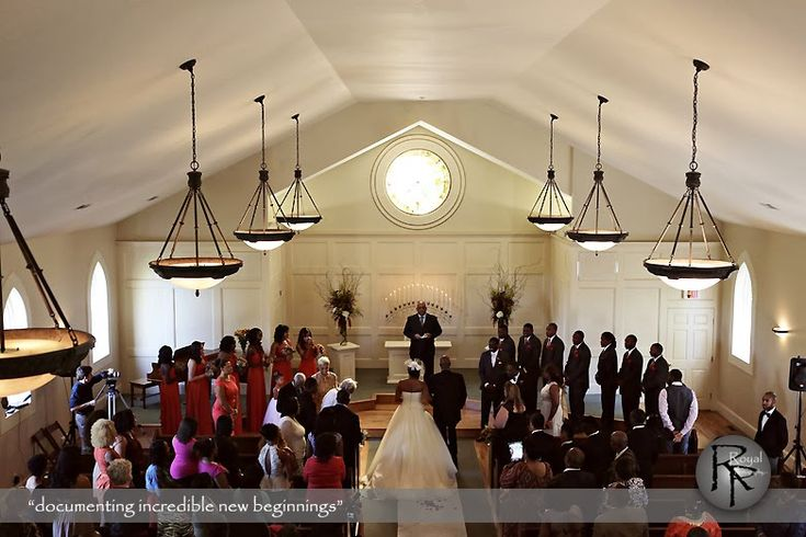 Wedding Ceremony in a cute little chapel! Royal Photography at the Hawthorne House Wedding Venue