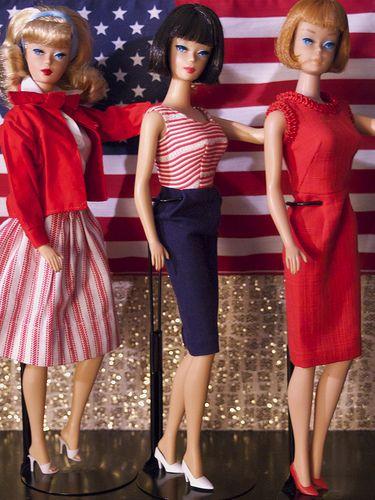 Vintage Barbie American Girl salute!