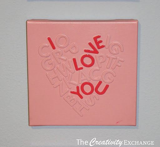 How to use foam letters and spray paint to make wonderful children's wall art or a Valentine's Day gift {Tutorial}