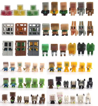 72pcs/lot 3CM high quality juguetes mine craft toys set Building Block Toys Assembly Toy PVC action figure set