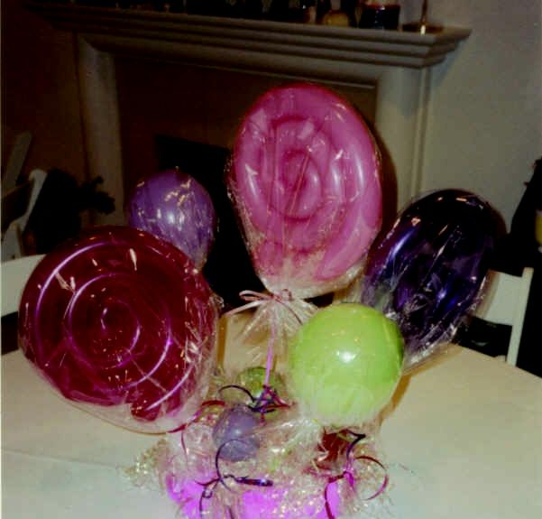 Lollipop Balloon Centerpiece : Best images about candy land theme on pinterest ice
