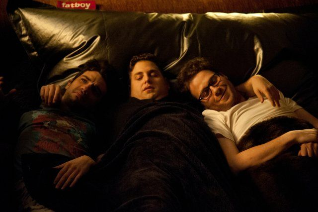 Still of Jay Baruchel, Seth Rogen and Jonah Hill in This Is the End