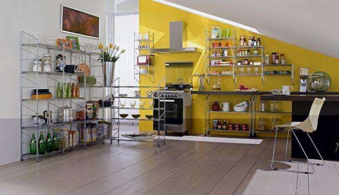 Элегантные металлические полки для кухни - http://mebelnews.com/mebel-dlya-kuhni/elegantnye-metallicheskie-polki-dlya-kuxni.html