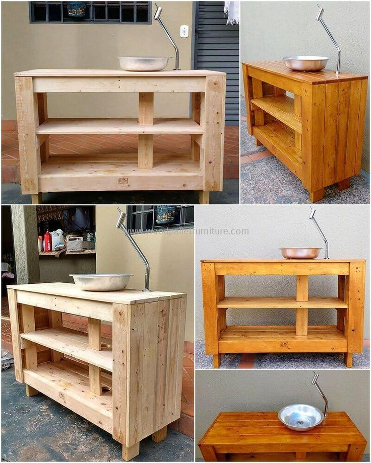 Here we are proudly going to present a unique repurposed wooden pallets bathroom counter. This counter seems wonderful in pure wooden texture as well as after beautiful wood color paint. This three-layer counter is created to serve you with a sink on its upper layer and the inner two layers will provide your best storage capacity.