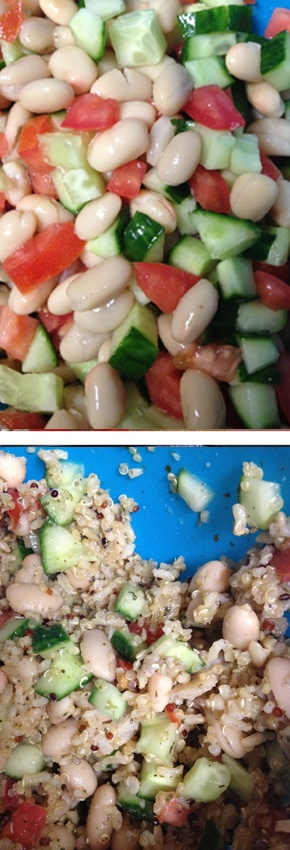 The 25 best cold quinoa salad ideas on pinterest healthy cold cold quinoa salad cucumbers white beans and tomato with quinoa healthy vegetarian forumfinder Images