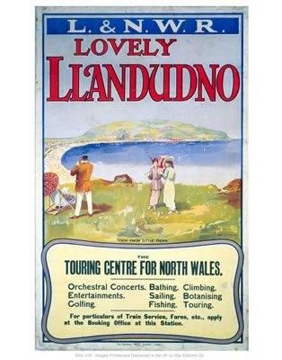 Llandudno #Vintage #Rail #Train #Poster #Print #Art #Vintage #Old#Classic #British #Britain #UK #Travel #Railway #Posters #Gifts #Products #Merchandise #Wales #NorthWales #Cymru #Welsh www.vintagerailposters.co.uk