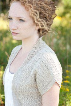 Lydia pattern Quince & Co: intricate linen stitches