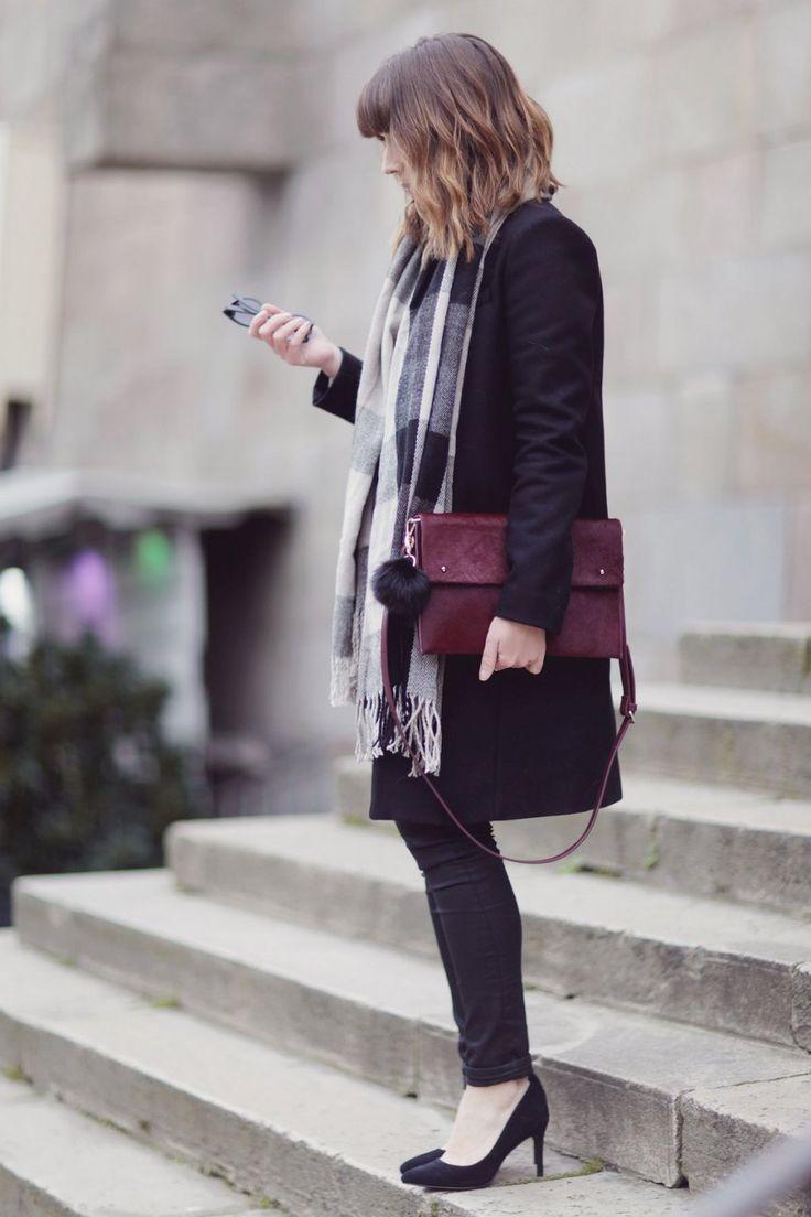 Jean Serena noir Denim Studio / blog mode paris femme du style madame streetstyle look echarpe shein