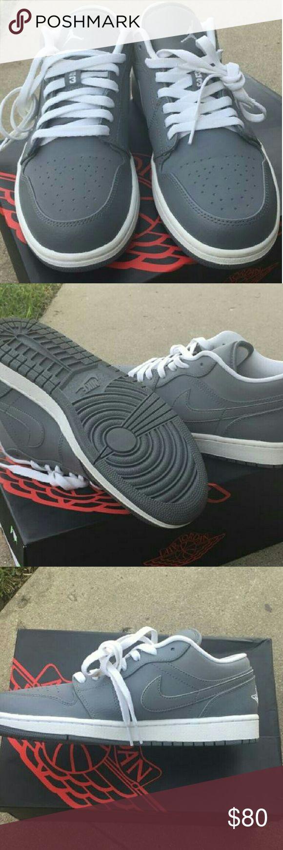 NWB Nike Air Jordan 1 low Nike Air Jordan 1 low cool gray/white.  Never worn with box Nike Shoes Sneakers