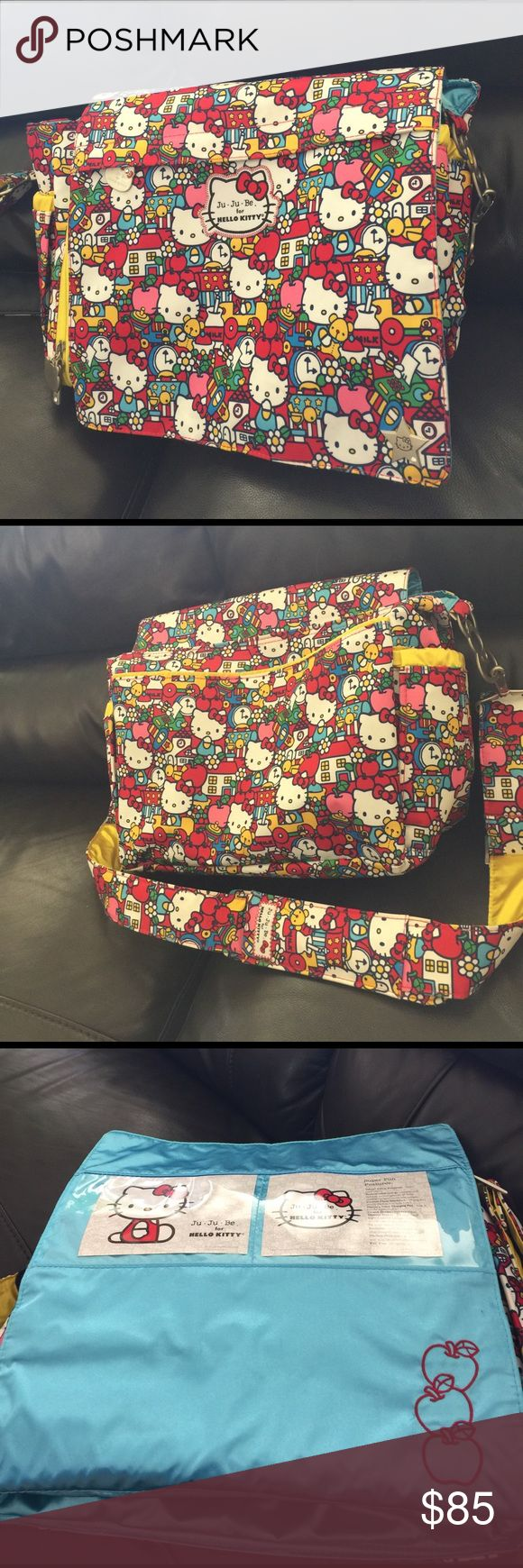 JuJuBe x Hello Kitty Diaper Bag Practically brand new JuJuBe diaper bag! Only used a handful of times! In perfect condition but IS MISSING the diaper changing pad. Bags Baby Bags