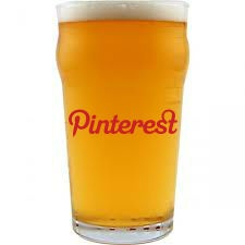 http://pinterestbutton.biz If Pinterest was a website founded by and targeting college students, that would have been its logo written on a Pint :-D Brilliant