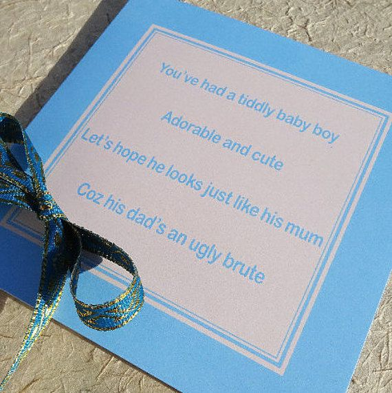 Funny baby card  rude baby cards  funny baby by LuckJudgementGifts