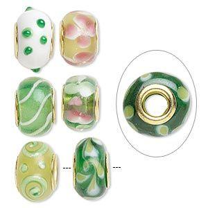 Lampwork Glass - Green $NZ3.90 each
