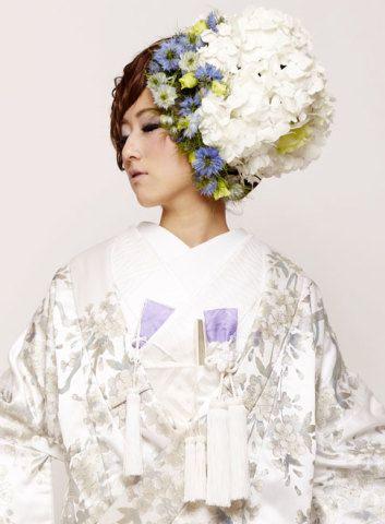 白無垢ブライダルボブ和装婚礼スタイル hs331188 | Blooming Beauty ...