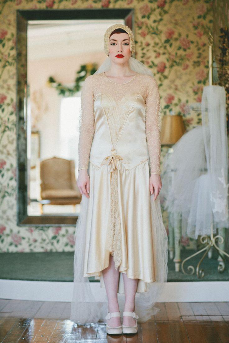93 best 1920s wedding gowns dresses images on pinterest 1920s 1920s wedding gowns wedding dress vintage 20s lace flapper dress antique ombrellifo Images