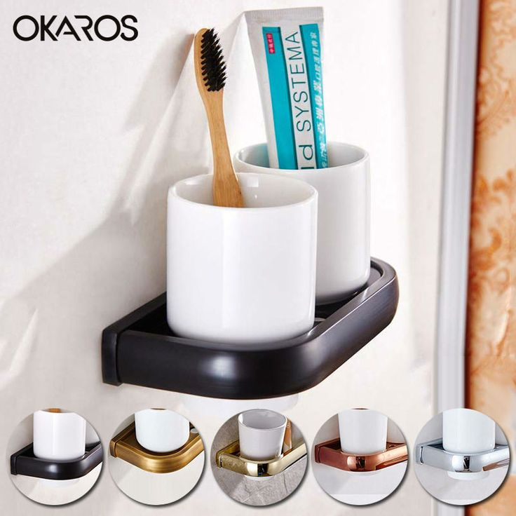 Wall Mounted Bathroom Double Cup Toothbrush Tumbler Holder With Ceramic Cup Brass Gold/Antique/Chrome Bathroom Accessories - ICON2 Luxury Designer Fixures  Wall #Mounted #Bathroom #Double #Cup #Toothbrush #Tumbler #Holder #With #Ceramic #Cup #Brass #Gold/Antique/Chrome #Bathroom #Accessories